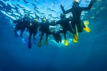 Snorkelers on Tenerife