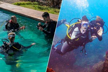 Pool session and Discover Scuba program