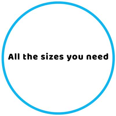 Equipment - All the sizes you need