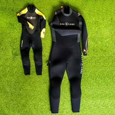 Wetsuits for rent in all sizes