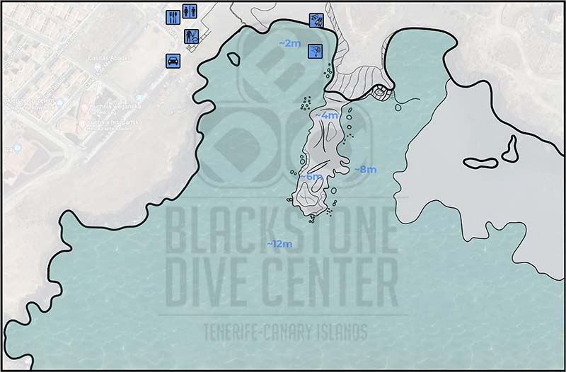 Map of the Dive Site called Abades