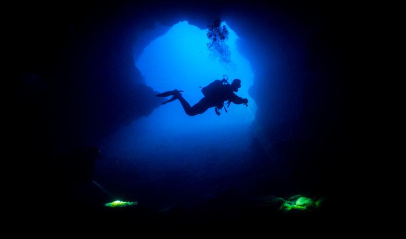 Abama Cave Entrance Diver