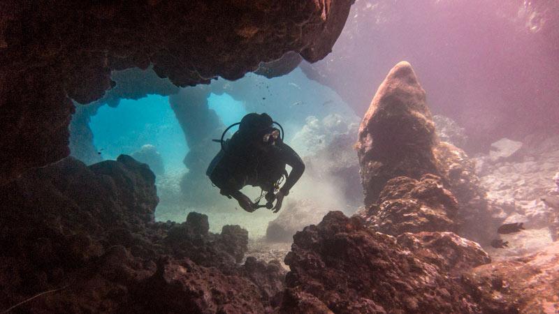 Alcala Dive Site Cavern