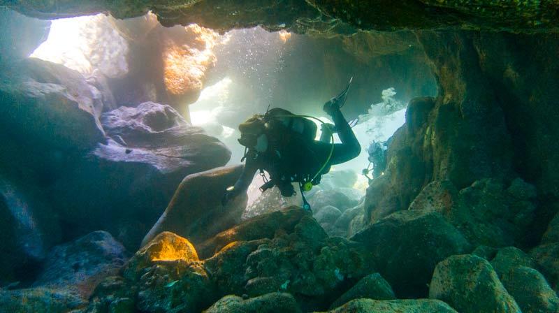 Balito Dive Site Cavern Diver