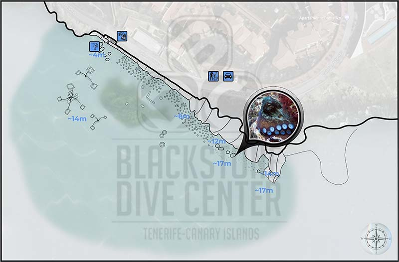 El Poris dive site map