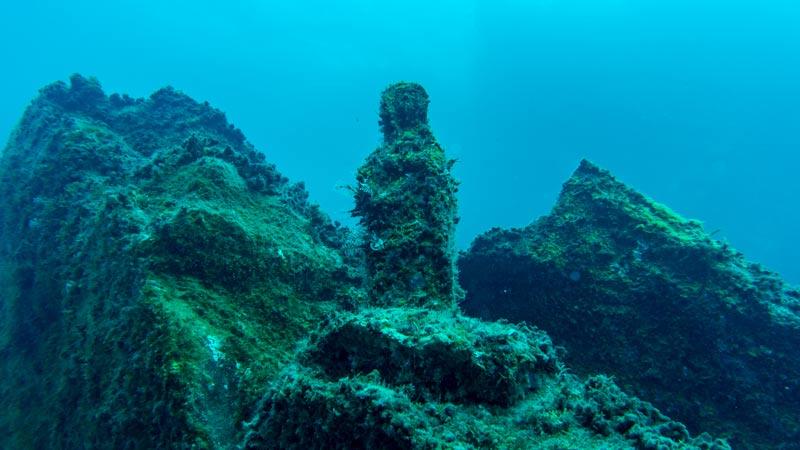 El Poris Dive Site Madonna statue