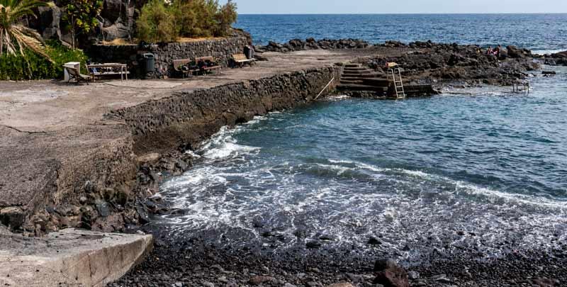 La Caleta Dive Site entrance