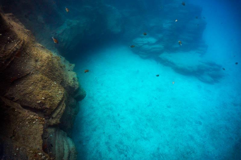Los Abrigos Dive site Cavern