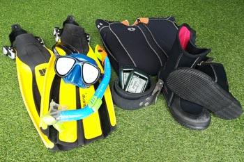 Snorkeling equipment - rent only